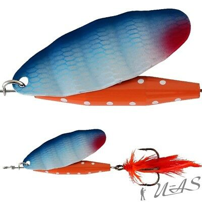 Abu Garcia Spinner Reflex Red 18G Fl Orange Top Köder  Fliege Zander Hecht Sha