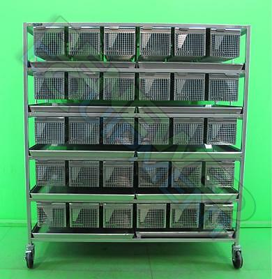 Lab Products 60-Unit Animal / Rodent Housing Stainless Steel Rack Cage Caging #2
