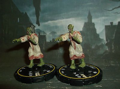 """HORRORCLIX Zombie Patient X2 #022 Yellow-Rookie W/CARDS """"The Lab"""""""