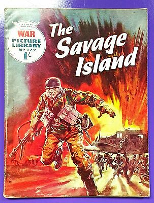 War Picture Library No.122:The Savage Island. Fleetway Library 6th November 1961