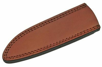 """FIXED-BLADE KNIFE BELT SHEATH Brown Leather 8"""" - Fits up to 7.25"""" x 1.5"""" Blade"""