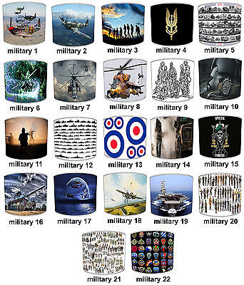 Lampshades Ideal To Match Military Forces RAF SAS Army Soldier Duvets Wall Decal