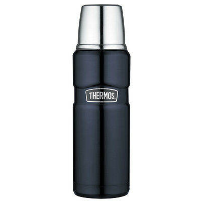 Thermos Stainless King Vacuum Insulated Beverage Bottle 16 oz. SS/Midnight Blue
