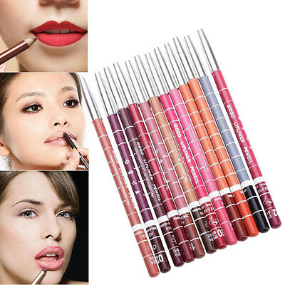 12pcs Waterproof 15cm Women's Professional Makeup Lipliner Lip Liner Pencil Set