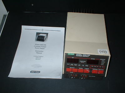 Bio-Rad 1000/500 Power Supply + Instruction Manual