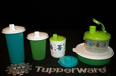 Tupperware kids Formula Dispenser ~Med Wonder Bowl ~Toddler Cup ~Bell Tumblers+