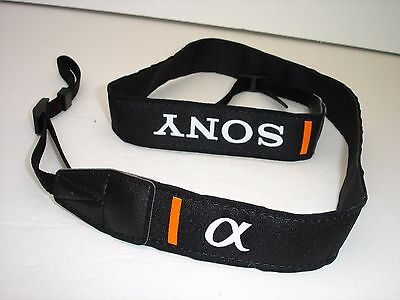 one SONY ALPHA camera strap , pictured model,    #001469
