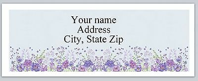 30 Personalized Address Labels Flowers Buy 3 get 1 free (ac 796)
