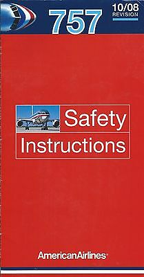 Safety Card - American - B757 - c2008 (S2389)