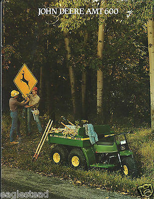 ATV Brochure - John Deere - AMT 600 - All Materials Transport - c1987 (V20)