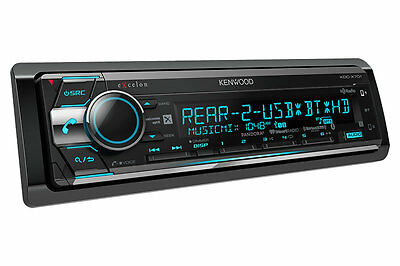 Kenwood KDC-X701 LED Theft Deterrent CD Receiver w/ Built-in Bluetooth HD Radio