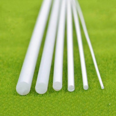 ABS Round Plastic Rod White Stick Length 250mm Model Scenery Building DIY