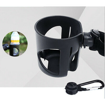 ABS&rubber Bottle Cup Holder Attach Hook Baby Pushchair Bicycle Stroller Pram EF