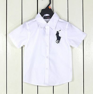 Spring Baby Toddler Boys Kids Cotton Clothes Shirts T-shirt Tops 1-6 Year EE70