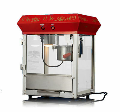 220V 680W Commercial Quality Popcorn Popper Machine  Popcorn Maker New 16 Ounce