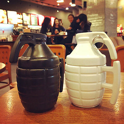 3D Army Dummy Grenade Mug Porcelain Mug Ceramic Coffee Tea Cup Funny Gift 280ML