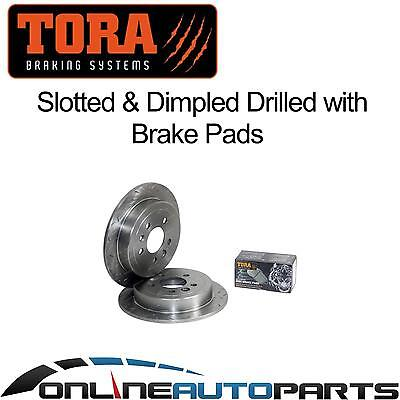 2 Rear Disc Brake Pads+Rotors Drilled+Slotted Falcon AU 9/98-4/2000 Series 1 New
