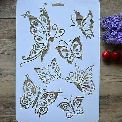 Reusable Butterfly Stencil Painting Art DIY Home Decor Scrapbooking Album Craft