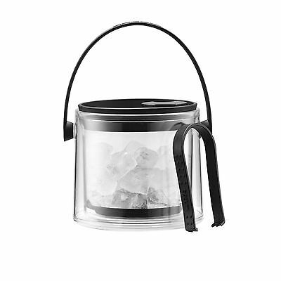 Bodum Cool - Ice Bucket With Tongs - Black - 1.5 L