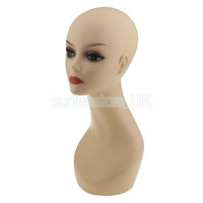 Smoky Eye Female Mannequin Dummy Wigs Hat Cap Head Display Holder PVC Stand