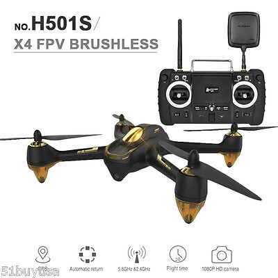 Hubsan H501S X4 Automation Return Drone 5.8G FPV RC Quadcopter 1080P Camera US