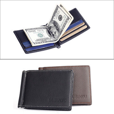Quality GUBINTU Genuine Leather Mens Wallet Ultrathin Money Clip  ID Coin EH