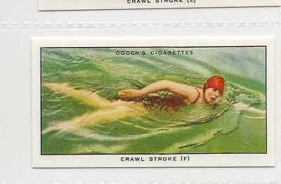 #22 crawl stroke (f) showing position swimming r card