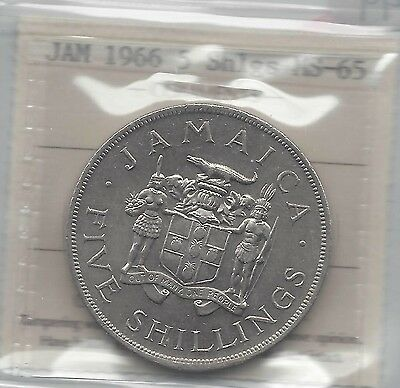 **1966** Jamaica, Five Shilling, ICCS Graded**MS-65**
