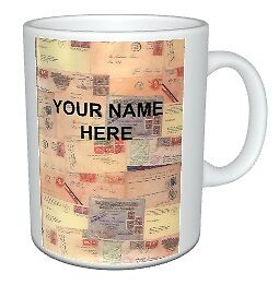 Novelty 11oz Ceramic Mug Personalised for Stamp Collector / Philatelist