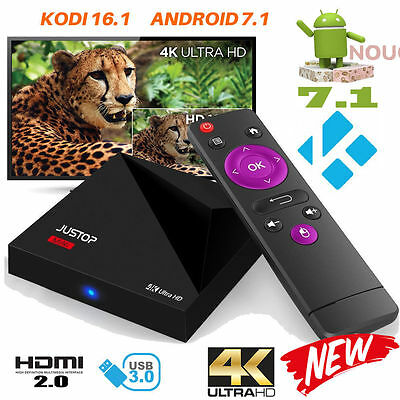 2017 A5X Quad Core Android 7.1 Nougat TV Box HDMI Media Player 4K HD WIFI