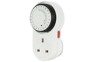 Mercury 350.104 24 Hour Mechanical Timer Socket w/ Automatic Time Control