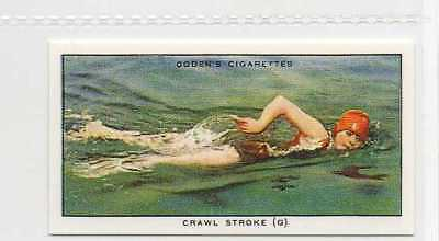 #23 crawl stroke (g) muscular relaxatio swimming r card