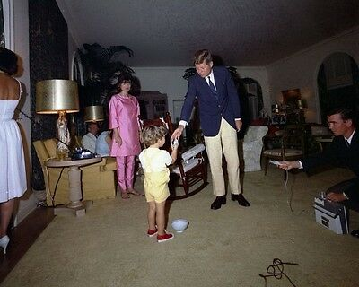 President John F. Kennedy and Jackie with JFK Jr. on Easter New 8x10 Photo