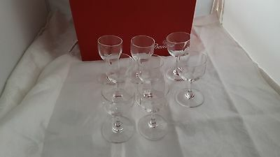 Set Of 8 Baccarat France Montaigne Optic Cordial Glasses New In Box