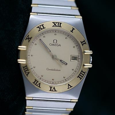 MINT Condition Omega Constellation Mens Watch 18K Yellow Gold / Stainless Steel