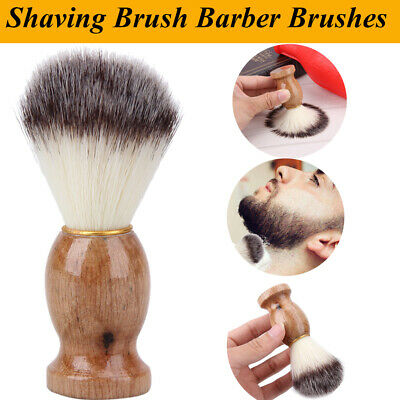 Men Shaving Bear Brush Badger Hair Shave Wood Handle Razor Barber Cleaning Tool