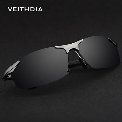 Aluminum Polarized Sunglasses Men's Sports Sun Glasses Driving Mirror Goggle