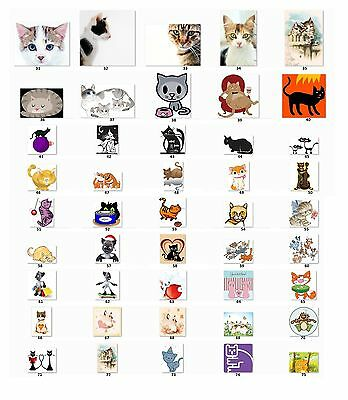 30 Personalized Address labels Cute Cats Buy 3 get 1 free {c 2}