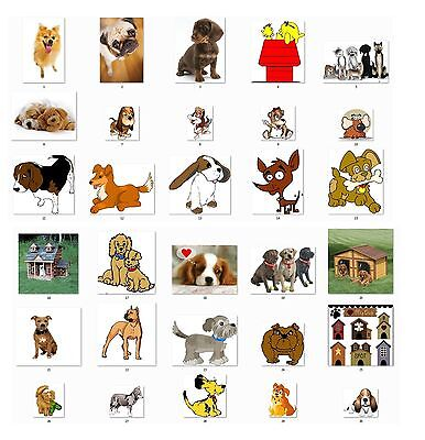 30 Personalized Cute Dogs  Return Address Labels Buy 3 get 1 free (cdx1)