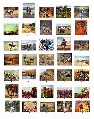 30 Personalized Return Address labels Country Western Paintings Buy3 get1 free