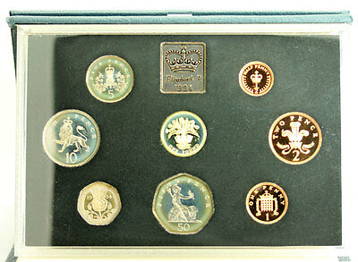 1984 UK Royal Mint Proof Set 8 Coins with COA