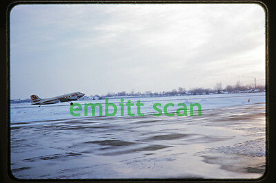 Original Slide, Capital Airlines Douglas DC-3 Scene, early 1950s