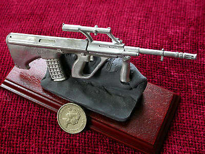 Steyr Aug Desk Display Piece-solid pewter