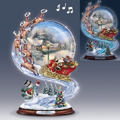Thomas Kinkade Sharing Christmas Sleigh Ride Figurine Bradford Exchange