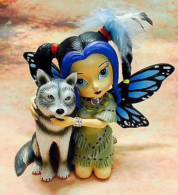Nightfall Fairy with Wolf Courage - Spirit of the Pack -Jasmine Becket Griffith