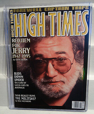 1995 High Times Magazine Requiem For Jerry Garcia 1942-1995 by Steve Bloom