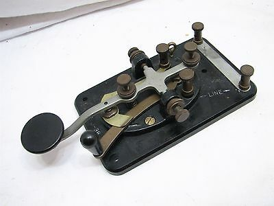 Vintage WWII Signal Corps Lionel J-38 Telegraph Paddle Key Ham Radio Morse Code