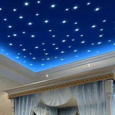 100/300pcs Luminous Star Wall Stickers Home Room Decor Glow In The Dark Decal AU