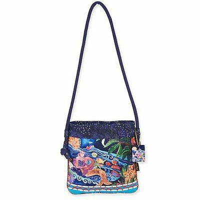 New LAUREL BURCH Crossbody Bag OCEAN SONG Shoulder Purse MERMAID OCEAN FISH BLUE