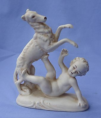 1930 Bisque Borzoi Boy Germany